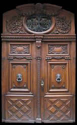 Walnut Double Door, Avignon, 18th c.